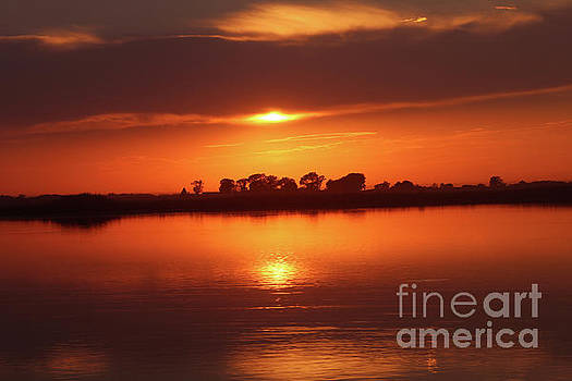 Sunset on Botkers lake by Lori Tordsen