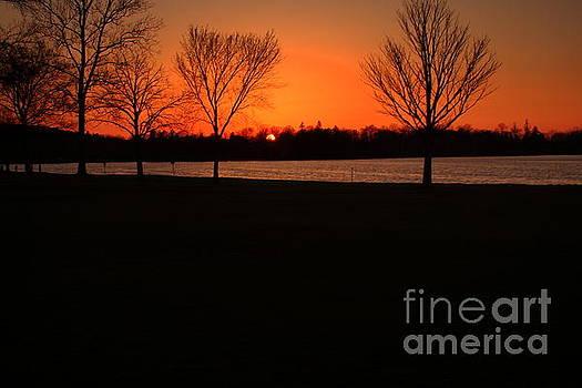 Sunset on Lake Quanapowitt by Lennie Malvone
