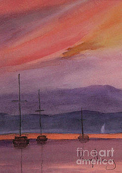 Sunset on Madeline Island by Penny Stroening