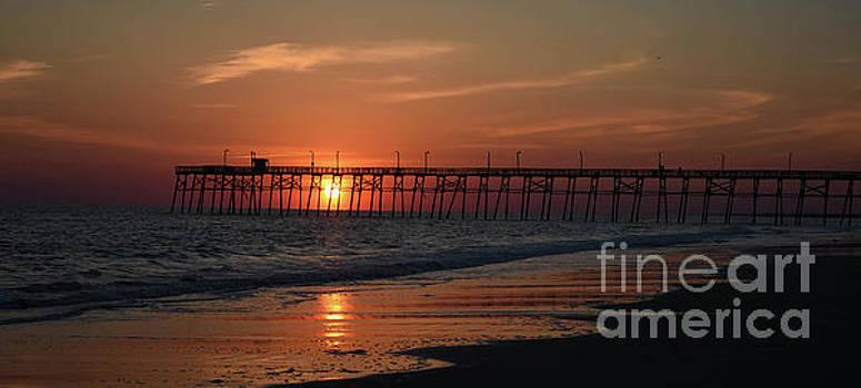Sunset On Oak Island by Debbie Morris