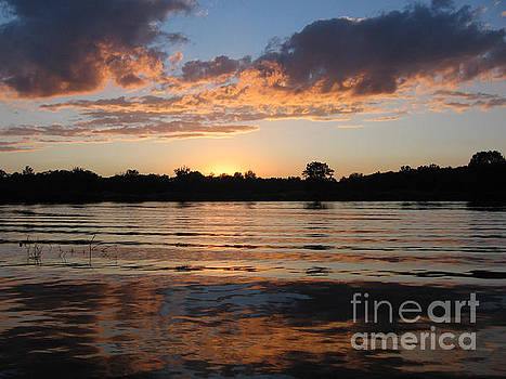 Sunset on the Thornapple River by Lisa Dionne