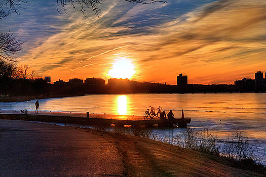 Joann Vitali - Sunset over the Charles River - Boston