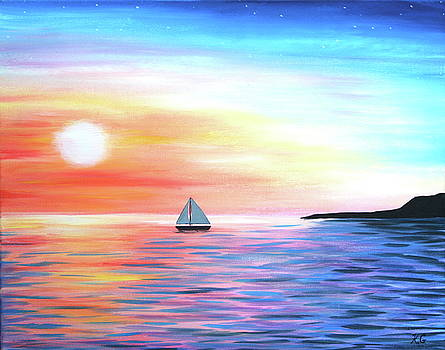 Sunset Sailing by Kristine Mueller Griffith