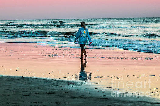 Sunset Stroll in the Surf Hilton Head by Thomas Marchessault
