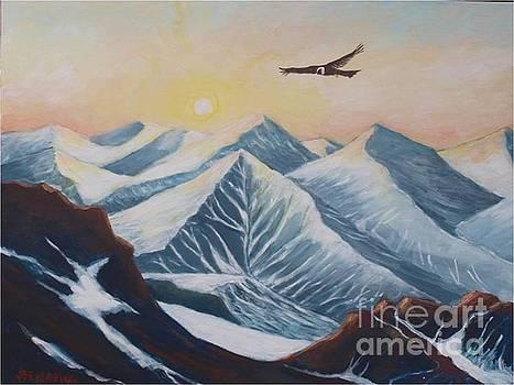 Sunshine in Los Andes Mountain Range by Jean Pierre Bergoeing