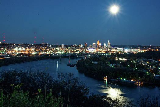 Randall Branham - super moon cincinnati river