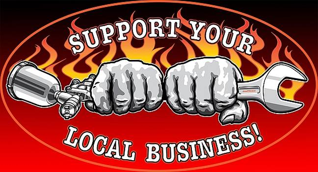 Evgeny Lutsko - Support your local business T-Shirts