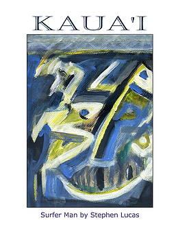 Surfer Man Island Poster by Stephen Lucas