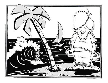 Surfer toon 4 by Aaron Bodtcher