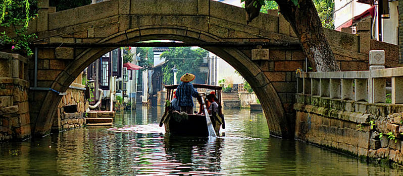 Suzhou Canal And Bridge by Rick Lawler