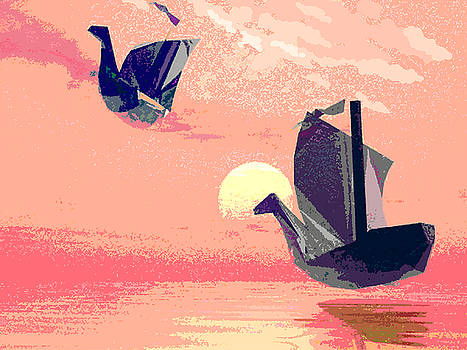 Swan Ships Leaving the Sea by Alexandra Cook