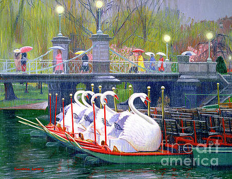 Swans in the Rain by Candace Lovely