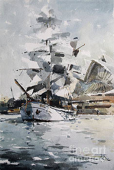 Tall Ship in Sydney Harbour by Tony Belobrajdic