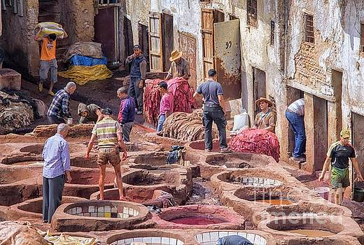 Tannery in Fez by Patricia Hofmeester