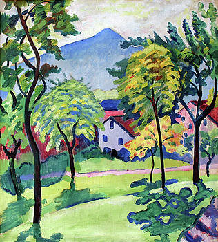 Tegernsee Landscape by August Macke