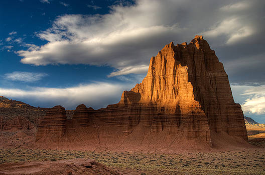 Temple of the Sun in Lower Cathedral Valley by Jeff Clay