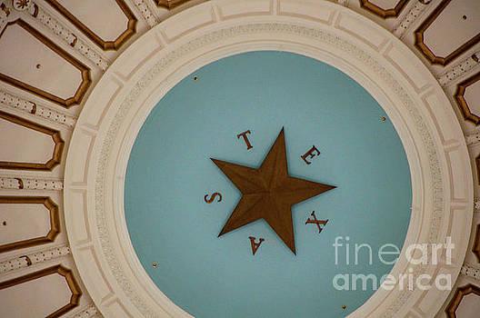 Herronstock Prints - Texas Capitol Dome Lone Star in Austin, Texas, USA