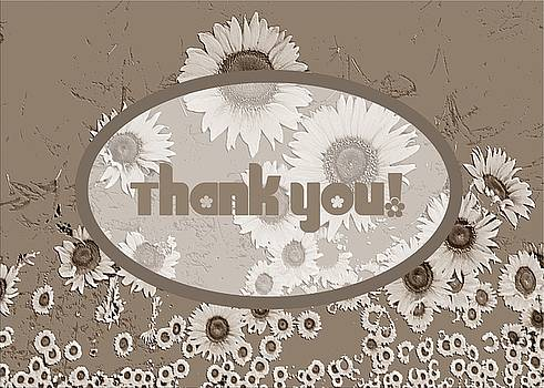 Thank You Card Daisies by Deleas Kilgore