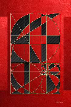 The Alchemy - Divine Proportions - Black on Red by Serge Averbukh