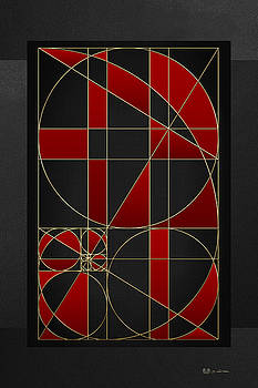 The Alchemy - Divine Proportions - Red on Black by Serge Averbukh