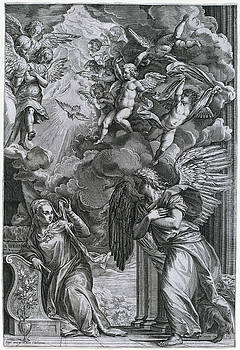 Cornelis Cort after Titian - The Annunciation