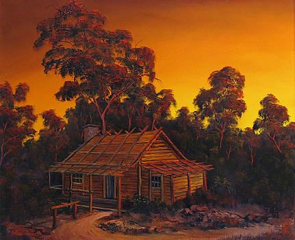 Pioneer's Log Cabin by John Cocoris