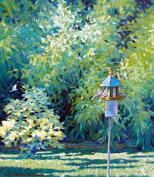 The Bird Feeder by Kevin Lawrence Leveque