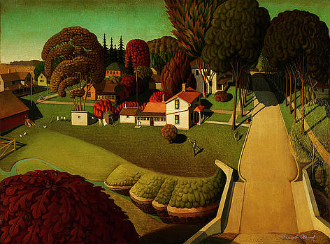 The Birthplace of Herbert Hoover by Grant Wood