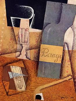 The Bottle Of Banyuls 1914  by Gris Juan