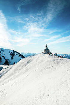 The chapel in the alps by Hannes Cmarits