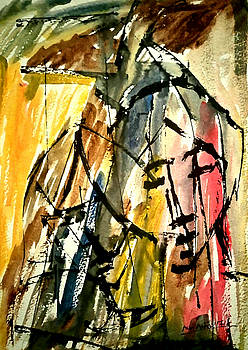 The Couple in Abstract 3 by Asm Ambia Biplob