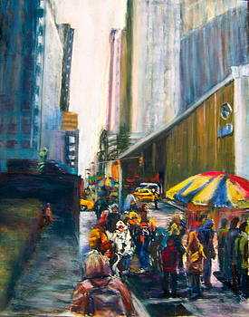The Crowd in NYC by Joan Wulff