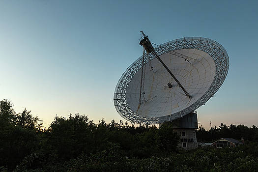 The dish at dusk by Josef Pittner