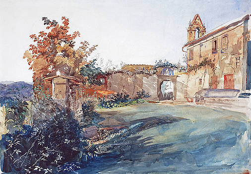 John Ruskin - The Garden of San Miniato near Florence