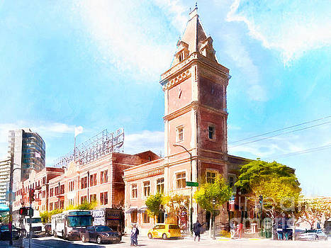 Wingsdomain Art and Photography - The Ghirardelli Chocolate Factory Clock Tower San Francisco Cali