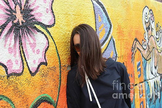 The Girl And The Wall by Yury Bashkin