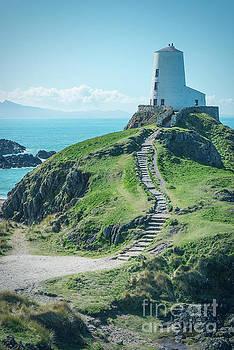 The lighthouse of Twr Mawr Llanddwyn Island by Amanda Elwell
