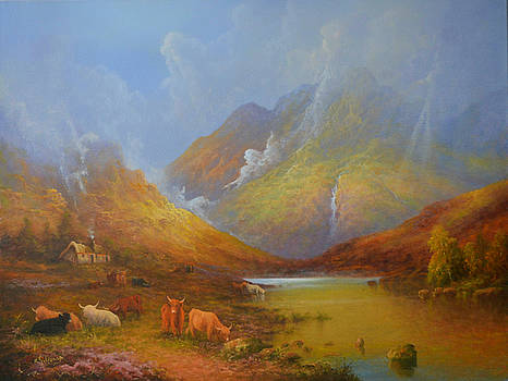 The Little Croft In The Scottish Highlands by Joe Gilronan