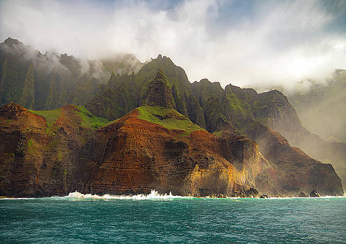 The Napali Coast by Peter Irwindale