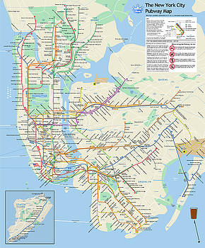 The New York City Pubway Map by Unquestionable Taste