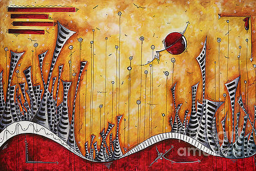 The Outpost Oversized Original Cityscape Apocalyptic Painting by Megan Duncanson by Megan Duncanson