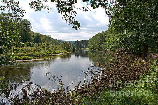 Compuinfoto  - the river semois near the village bouillon in belgium