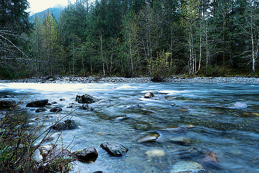 The Snowqualmie river by Jeff Swan