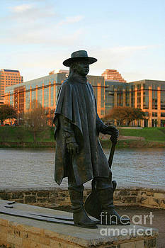 Herronstock Prints - The Stevie Ray Vaughan Statue is a favorite tribute to blues gui