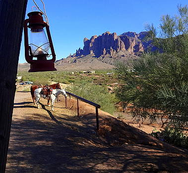 The Superstition Mountains by Donna Spadola