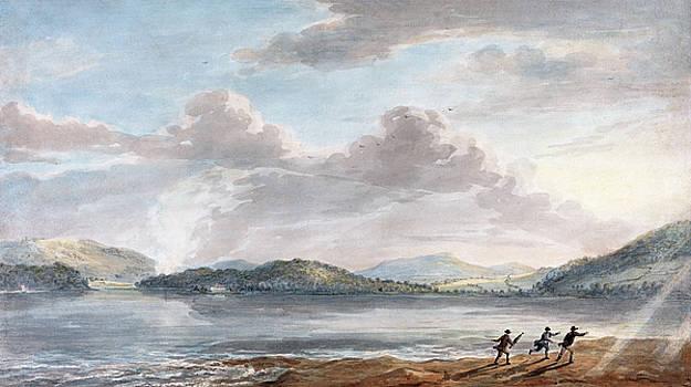 Paul Sandby - The Tide Rising at Briton Ferry