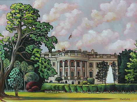The White House Fountain by Eve  Wheeler