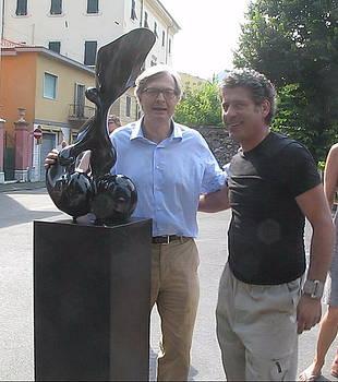 The woman metaphysics  Emanuele Rubini and Prof Vittorio Sgarbi by Emanuele Rubini