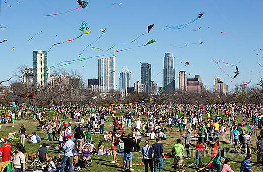Herronstock Prints - The Zilker Park Kite Festival is an annual event the longest consecutive running Kite Festival in the country