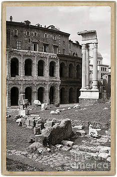 Theatre of Marcellus Black and White by Stefano Senise